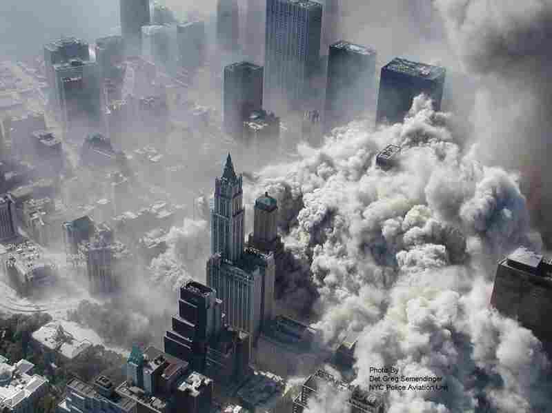 These photos were taken by the New York City Police Department just after the Sept. 11 attacks in 2001. ABC News claims to have obtained them under the Freedom of Information Act. Smoke and ash engulf the area around the World Trade Center.