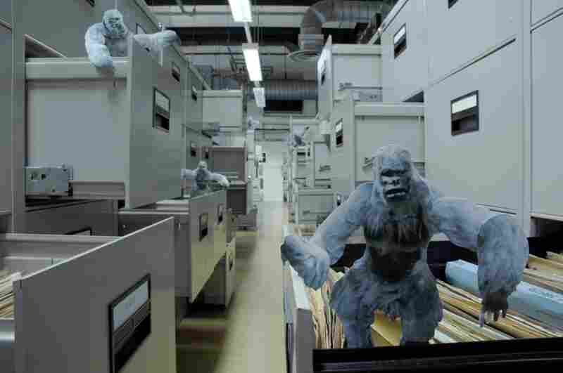 "No after-effects here. Hill created this scene by continually adjusting his Yetis and the drawers. ""I was determined to do it all physically — no compositing tricks,"" he says."
