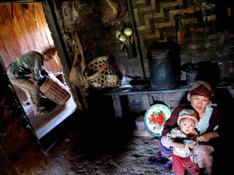 Mawai, a 39-year-old ethnic Akha farmer, lives with his wife and baby in their mountain home near Kengtung in Myanmar's east-central Shan state.
