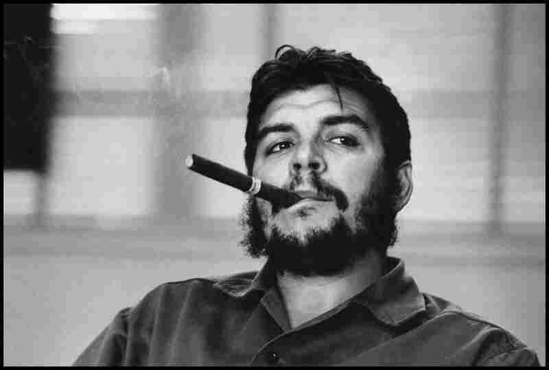 Seminal images by Swiss photographer Rene Burri are in the archive — from political portraits to scenes of South America. Ernesto (Che) Guevara smokes a cigar during an exclusive interview in his office in 1963.