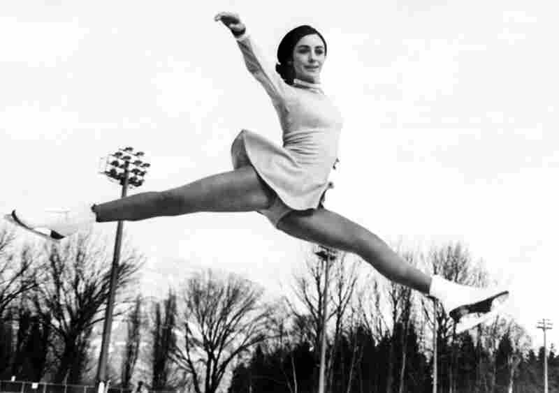 Peggy Fleming set a new standard for grace and beauty in skating, charming the world while winning gold for the U.S. at the Olympics in 1968. Dresses of Fleming's day were generally one piece and were relatively free of embellishment.