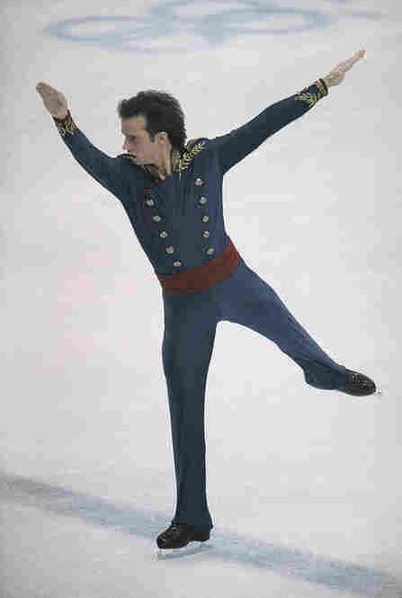 American figure skater Brian Boitano, like his Canadian rival Brian Orser, wore a military-inspired outfit for the Battle of the Brians at the Calgary Olympics in 1988. Boitano emerged with the gold; Orser, with the silver.