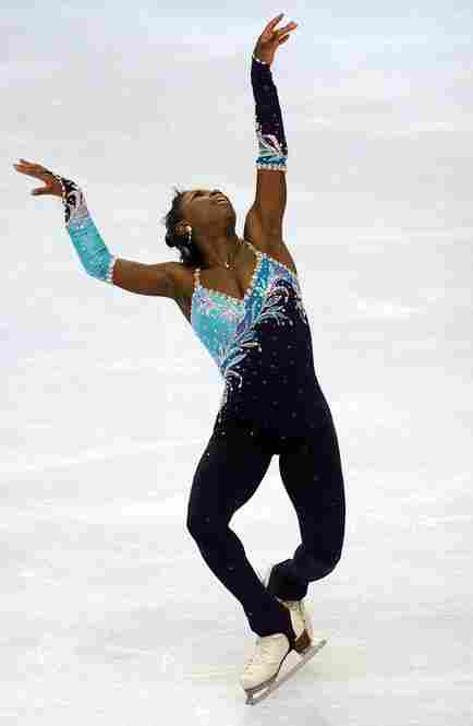 Surya Bonaly of France, who skated in three Olympics but never won a medal, was a former gymnast who liked to compete in a unitard. International skating officials, however, disapproved. Today women in events sanctioned by the sport's official body must wear skirts.