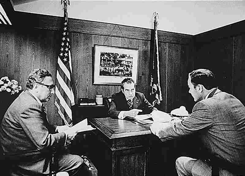 Six days after his 1972 re-election, President Nixon meets with Secretary of State Henry Kissinger and Haig, then the deputy assistant to the president for national security affairs. The topic was Vietnam, but soon the president would be engulfed in the Watergate cover-up. While Nixon was distracted by the scandal, Haig was credited by many with maintaining the day-to-day operation of the gover...