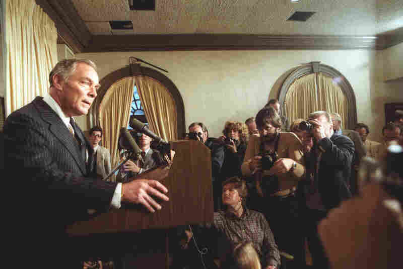 "Following the attempted assassination of President Reagan in March 1981, Haig tells reporters, ""I am in control here.""  It was a low moment for Haig, who was reminded that constitutionally, there are several people ahead of the secretary of state when it comes to presidential succession."