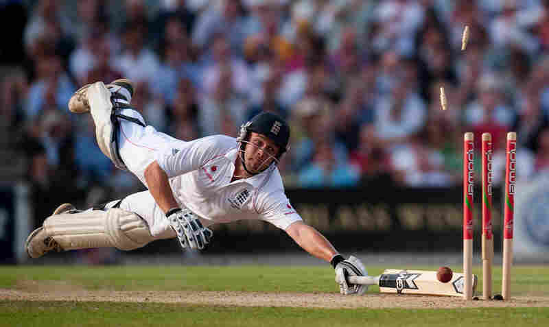 Sports action singles, 1st prize: England's Jonathan Trott is run out at the fifth Ashes test match, London, Aug.