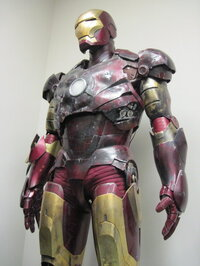 The suit from <i>Iron Man</i> has taken a little bit of a beating.