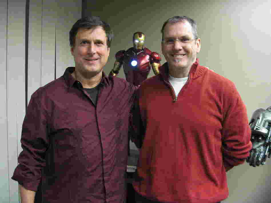 John Rosengrant (left) and Alan Scott are two owners of Legacy Effects.  Both worked with the late Stan Winston, the special effects guru behind Terminator, Jurassic Park and Aliens. After Winston died in 2008, Rosengrant and Scott started Legacy, and named it in their mentor's honor.