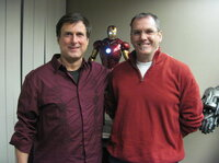John Rosengrant (left) and Alan Scott are two owners of Legacy Effects.  Both worked with the late Stan Winston, the special effects guru behind <i>Terminator, Jurassic Park</i> and <i>Aliens</i>. After Winston died in 2008, Rosengrant and Scott started Legacy, and named it in their mentor's honor.