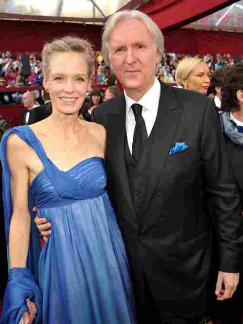 """James Cameron's date turns out to be an early draft of a Na'vi."" (The Avatar director actually brought his wife, actress Suzy Amis.)"