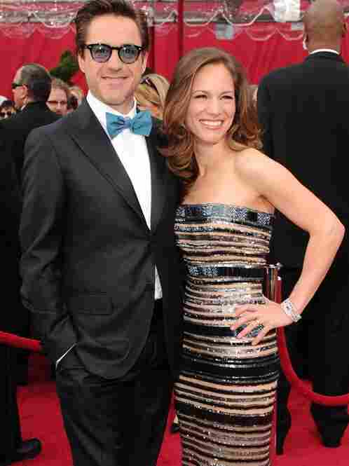 """No need to ask Susan Downey's age ... just count the rings!""  (Robert Downey Jr. with the missus.)"