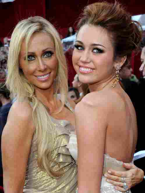 """It's Miley and a MILA (Mom I'd Like to Avoid)."" (That's actress and singer Miley Cyrus and her mom, Tish Cyrus)."