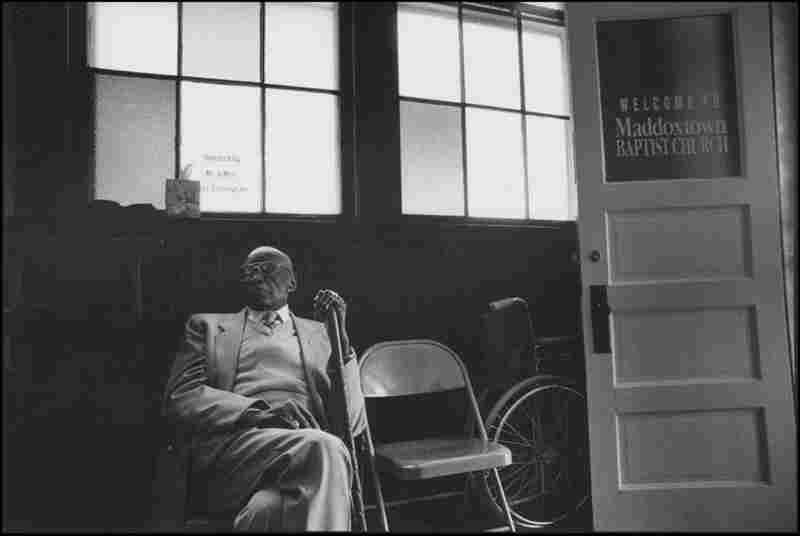 Sunday Morn, Otis Rankin, 2001. According to Hoskins, the Maddoxtown Baptist Church is doing well, and is planning to build a bigger church. She emphasized their generosity, explaining that a few years ago they donated $100 to her project