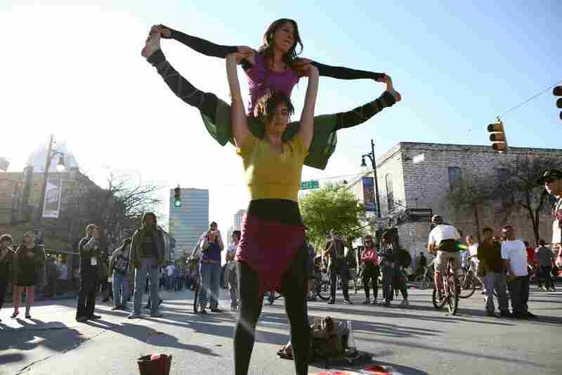 Street performances in Austin.