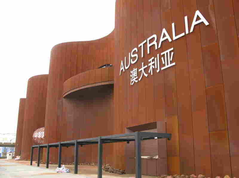 Australia's pavilion, constructed at a cost of $76 million, is built from Australian steel and is intended to highlight the close trade ties between Canberra and Beijing.