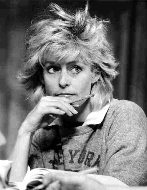 Farrah Fawcett at rehearsal for the off-Broadway show Extremities, at the Westside Arts Theater in New York,  May 11, 1983.