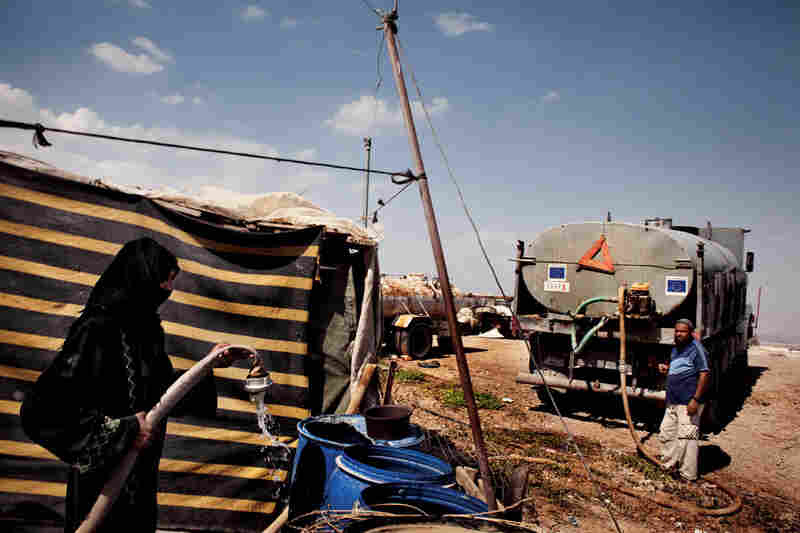 Meanwhile, Palestinians are restricted to shallow wells by Israel's occupation, and buy West Bank groundwater from Israel with European Union aid.