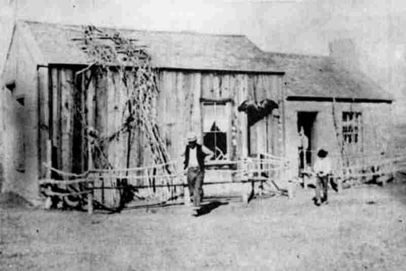 The Diamond Springs Pony Express Station in Nevada. The Express route was divided between main stations in St. Joseph, Mo.; Ft. Kearney, Neb.; Horseshoe Creek Station, Wyo.; Salt Lake City, Utah; Roberts Creek, Nev.; and San Francisco. About 165 stations made up the entire route, and depending on the terrain, stations were spaced 10 to 25 miles apart. (Courtesy of the Nevada Historical Society,...