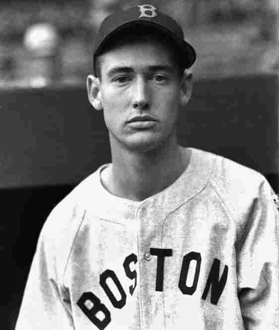 """Ted Williams: Known as """"The Splinter,"""" Williams played for the Boston Red Sox his entire career and famously homered in his last at-bat in 1960."""