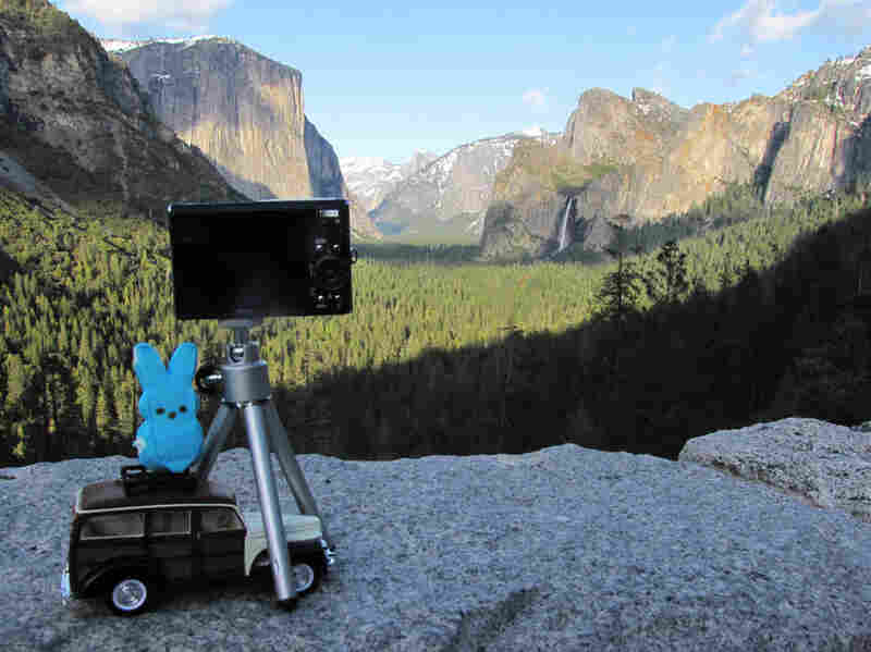 """Ansel Adams would photograph on top of his car, so I thought this would make (or remake) a great scene from the past in Yosemite!"""