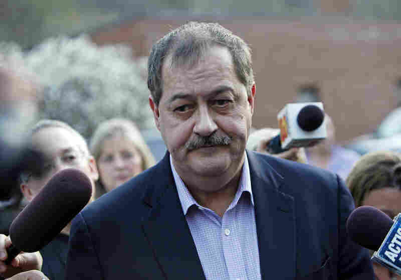 Massey Energy Co. CEO Don Blankenship speaks to reporters Tuesday in Montcoal. Monday's blast at Massey's Upper Big Branch mine was the nation's deadliest mining disaster since at least 1984; 25 miners were killed, and four are missing. The cause of the explosion is under investigation.