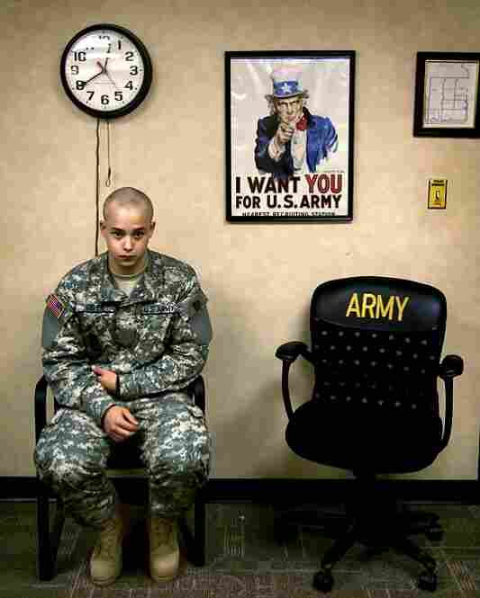 "June 20, 2007. 12:41 p.m. ""I want to go home. It makes me feel like I have an excuse. I've been thinking about everyone,"" Ian says. He waits to speak to Sgt. 1st Class Robert Russell, the recruiting command liaison, to outline his injury and make a new claim: A drill sergeant mistreated him for not seeking permission when he got an X-ray the night before."