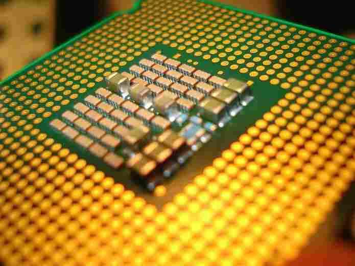 A computer microprocessor.