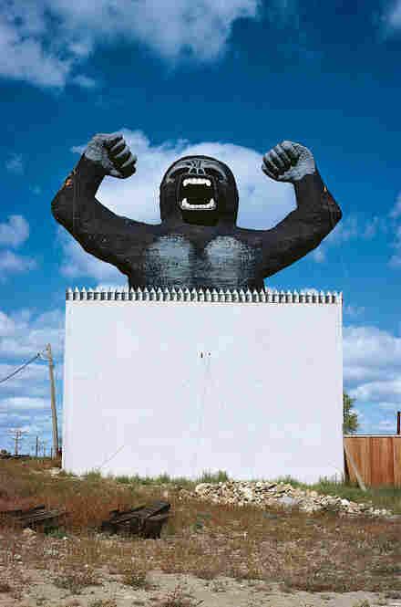 Rawhide City billboard, Mandan, N.D., 1980