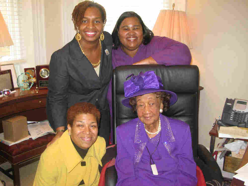 TMM staffers pose with Dorothy Height