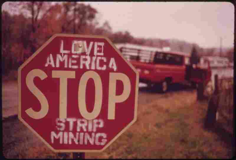 There is some local opposition to stripping the land in southeastern Ohio. Most people, however, are employed by the coal companies and are afraid any demands for reform will cost them their jobs. October 1973.