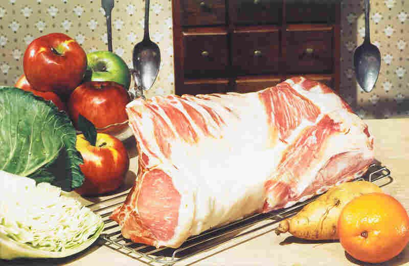 Loin of pork, photograph for use in an A&P grocery advertisement, no date