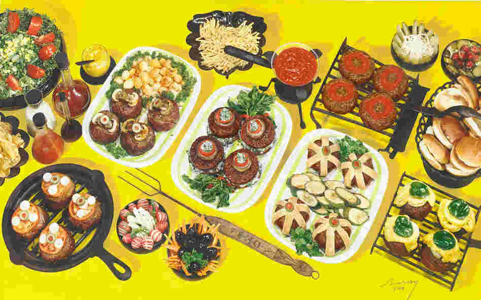 Hamburger spread, photograph for use in McCall's Magazine, circa 1944