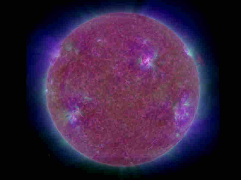 """A distant view of the sun and its clouds of magnetized gases, which NASA says are big enough to encompass entire planets. NASA program scientist Lika Guhathakurta describes the new telescope as a """"Hubble for the sun""""; she believes it will """"transform solar physics in the same way the Hubble Space Telescope has transformed astronomy and cosmology."""" (NASA/Goddard Space Flight Center Scientific Vis..."""