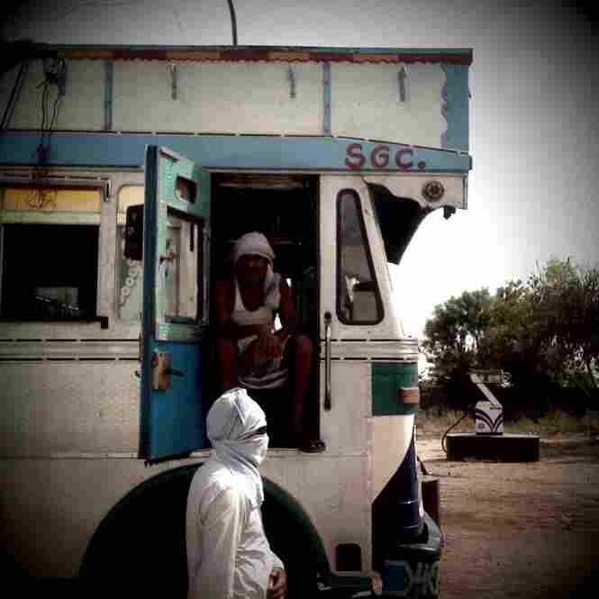 Stopping for gas between Kanpur and Aligarh.