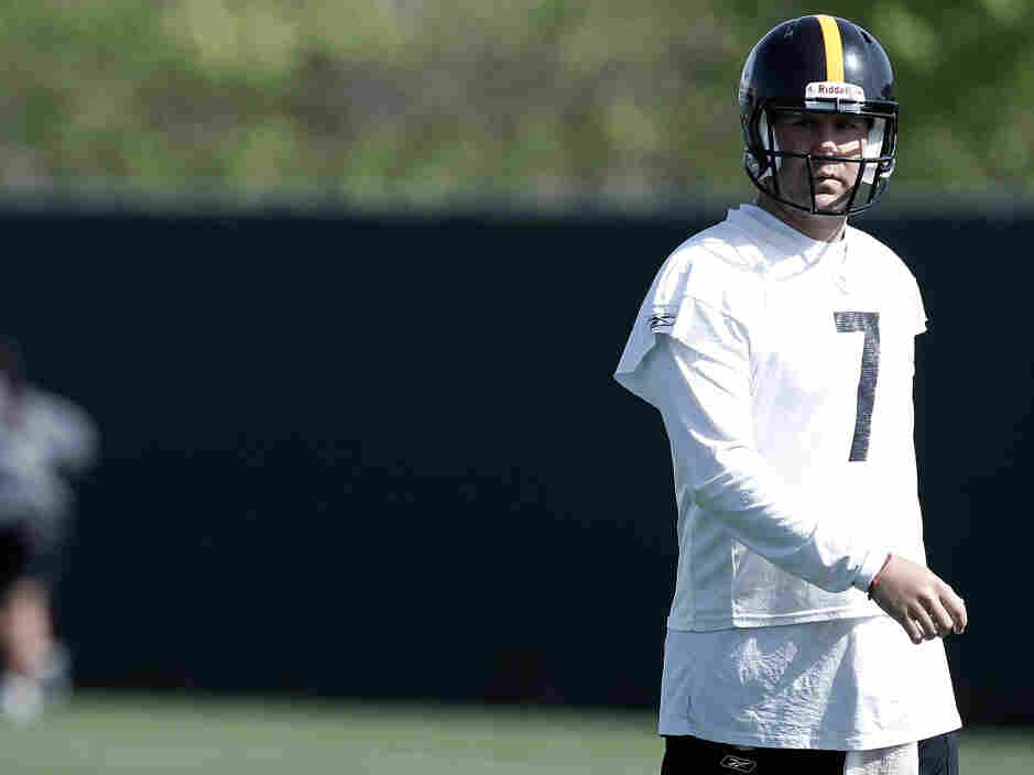 Ben Roethlisberger  at a Pittsburgh Steelers Practice