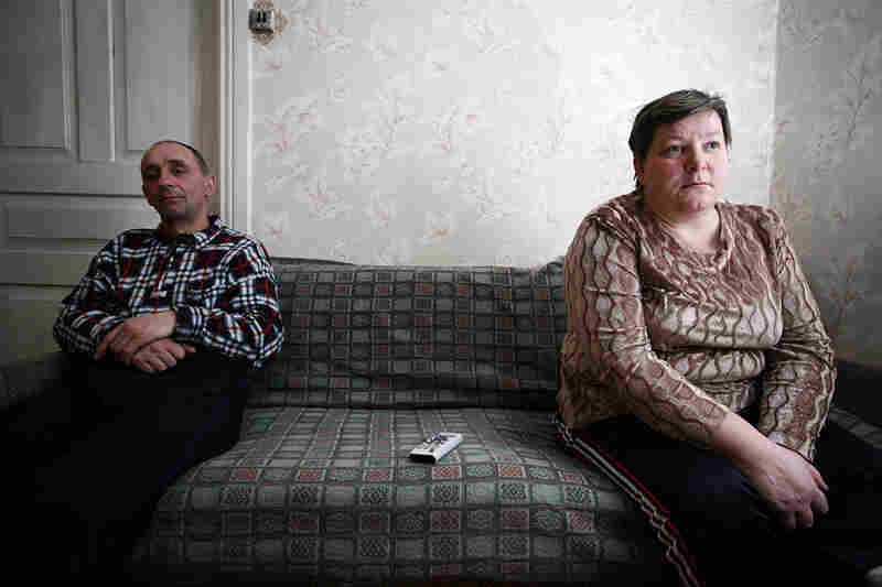 """At the time of the 1986 accident, Sasha and Lyuba Boichuk were  starting to build a house. After some hesitation, they decided to continue building and have lived here ever since. Sasha worked as a liquidator in the Chernobyl clean-up efforts. Afterwards, he began to drink heavily, and says he lost a decade of his life to alcohol."""