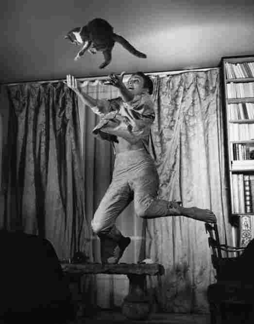 Jean Seberg with Cat, 1959