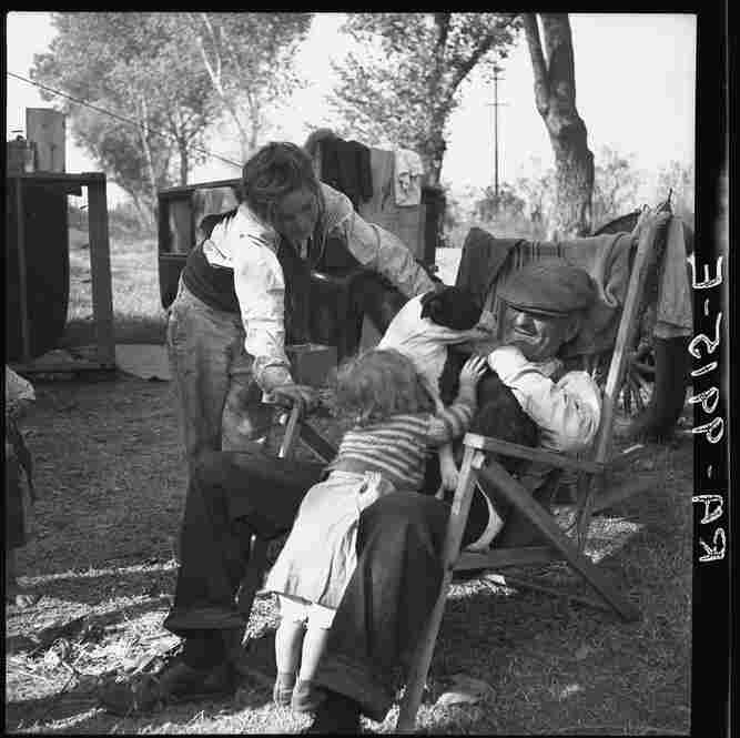 American River Camp, Sacramento, California, 1936 (Happy Family)