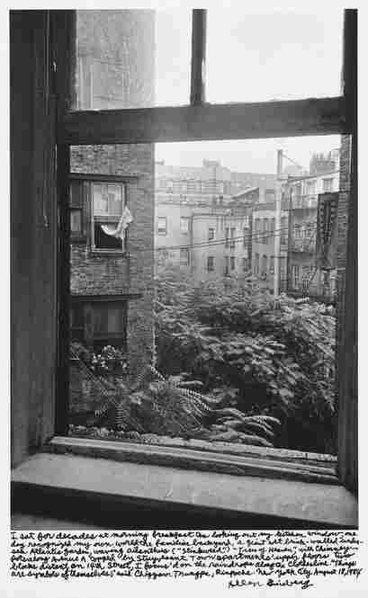 """""""I sat for decades at my morning breakfast tea looking out my kitchen window, one day recognized my own world the familiar background ... New York City August 18, 1984."""""""