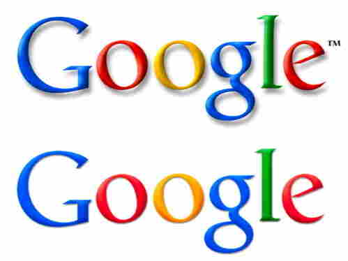 Google's corporate logo changes