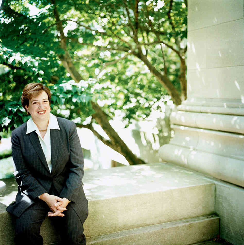 Kagan, who graduated from Harvard Law School in 1986, became the first female dean of the school in 2003. Here, she is pictured in an official portrait in Cambridge, Mass., in 2004.