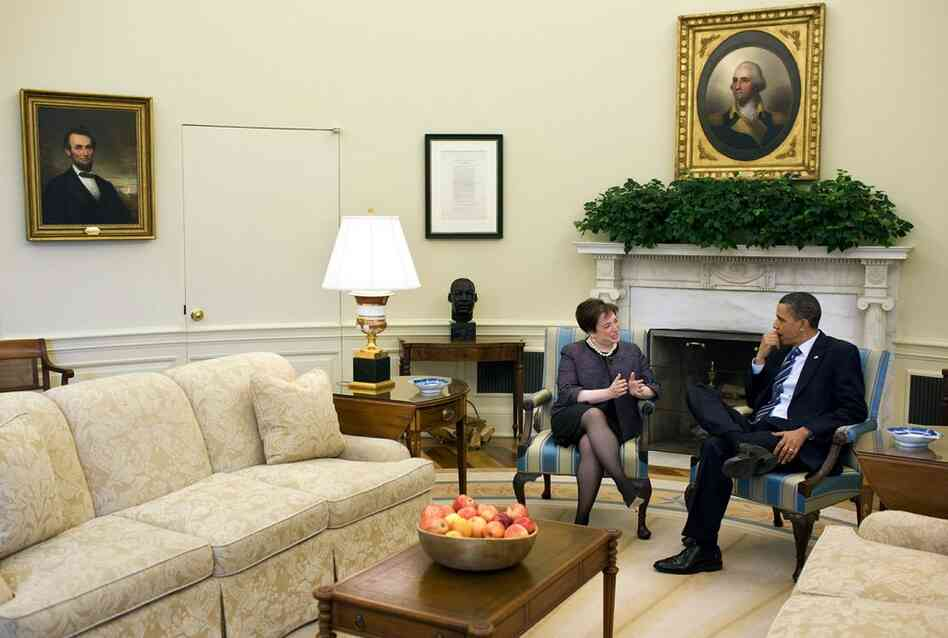Obama meets with Kagan on April 30 in the Oval Office in Washington, D.C. If confirmed, Kagan would become the 112th justice of the Supreme Court.