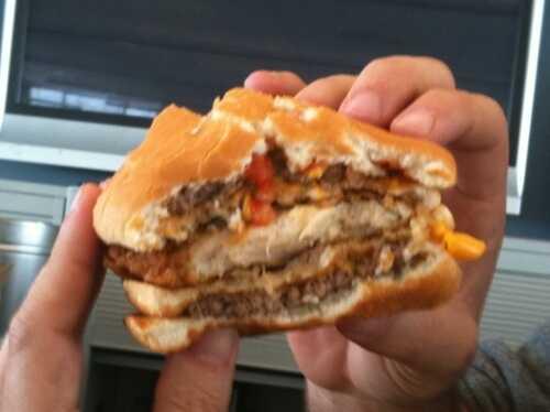 cross section of mcdonalds sandwich
