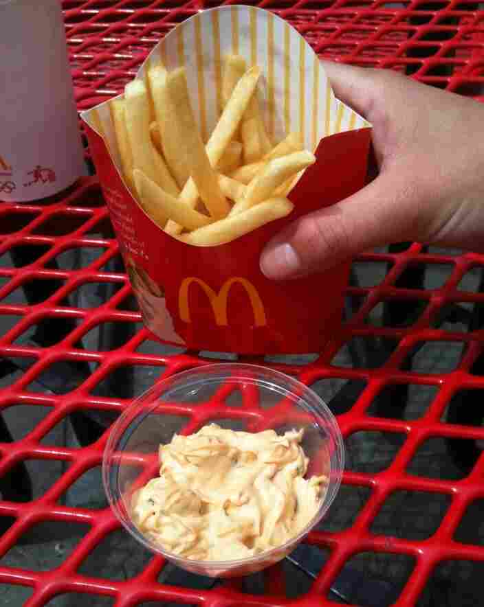 mcdonalds fries with special sauce