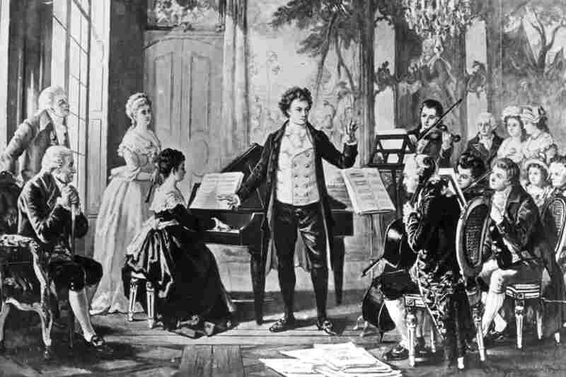 Ludwig van Beethoven, center, German composer, 5 feet 4 inches