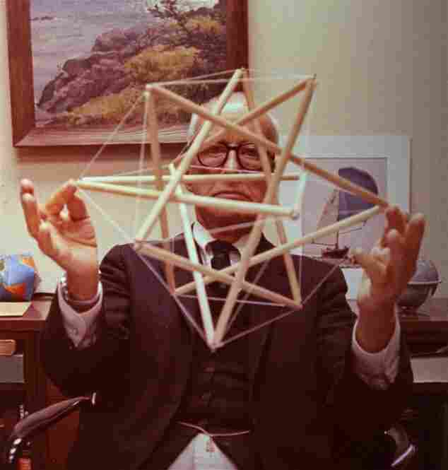 Buckminster Fuller, futurist, 5 feet 2 inches