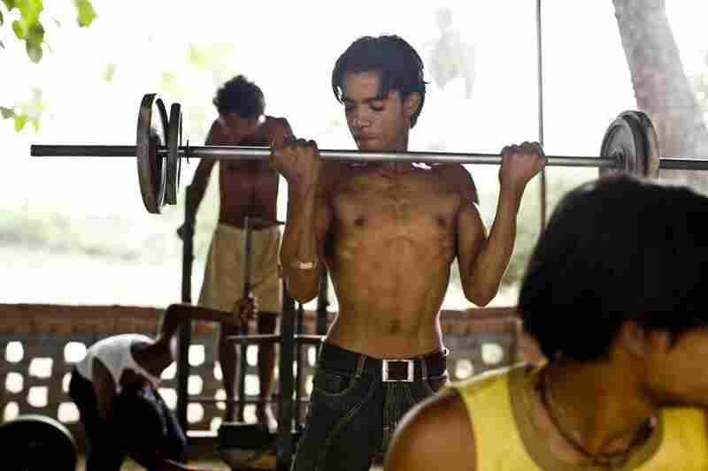 The equipment at the school is crude, but for some young men, it's the only access they have to proper weights and a formal exercise routine.