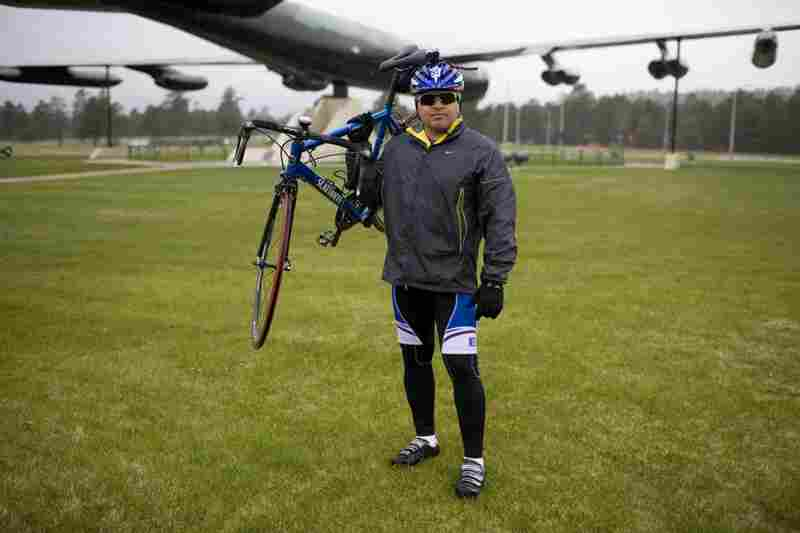 Capt. Juan Guerrero competed in the 20k cycling race at the Warrior Games. Guerrero suffered injuries to both legs in 2007 while serving with the Army in Iraq.