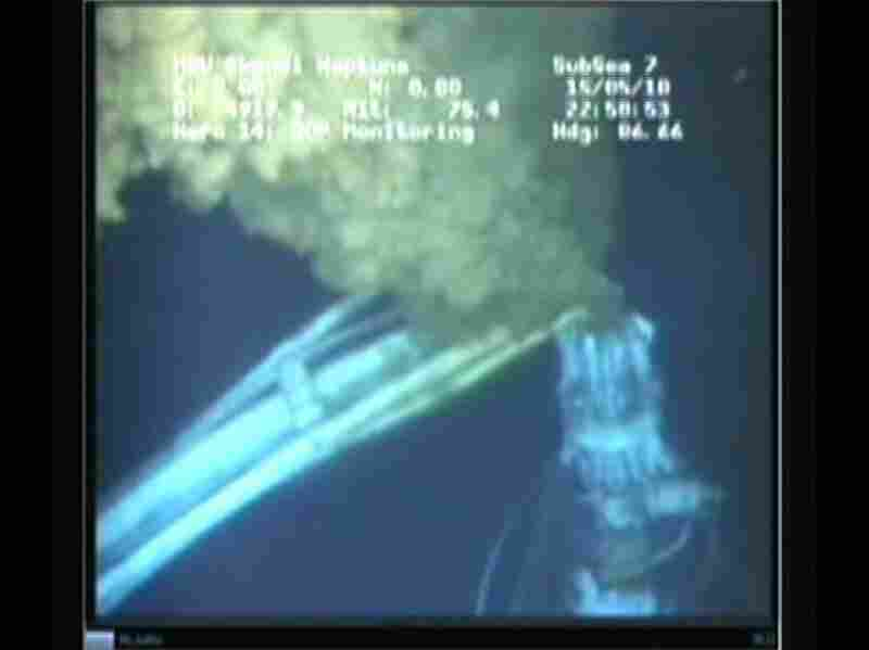 This undated frame grab image received from BP and provided by the Senate Environment and Public Works Committee shows details of the oil spill in the Gulf of Mexico. BP has agreed to display a live video feed of the oil gusher on the Select Committee on Energy Independence and Global Warming Committee's website beginning Thursday evening.