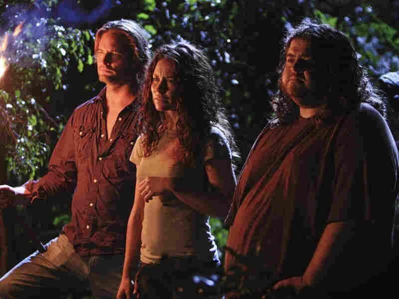 Josh Holloway, Evangeline Lilly and Jorge Garcia in 'Lost'